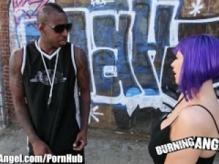 Burning Angel Big Boobed Emo Interracial Suck and Fuck