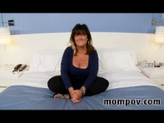 Big tits mature housewife making first video